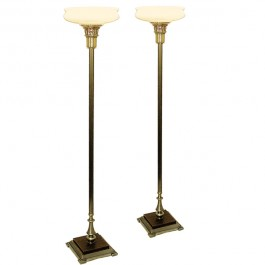 Square Base Torchiere Lamps