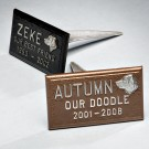 Pet Marker Bronze-Tone Finish