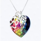 Swarovski Rainbow Heart Pendant Necklace